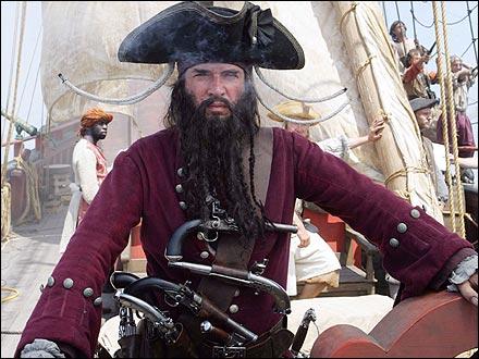 чёрная борода пират фото