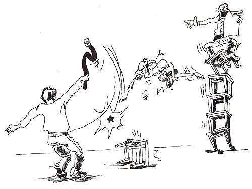 Карикатура коллектив нарисовать