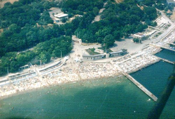 Одесса. Ланжерон [] Пляж